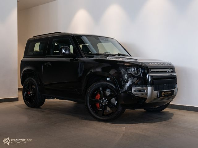 New 2022 Land Rover Defender X Black exterior with Brown interior at Knightsbridge Automotive